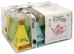 Dárková kolekce bílých čajů BIO 12 pyramidek, 4 příchutě