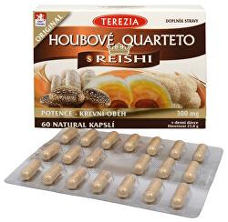 Hubové Quartet s reishi 60 kapsúl