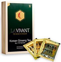 LAVIVANT ženšenový granulovaný čaj, drevená krabička, 100 ks