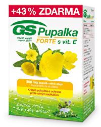 GS Pupalka Forte s vitamínom E 70 kapsúl + 30 kapsúl ZDARMA