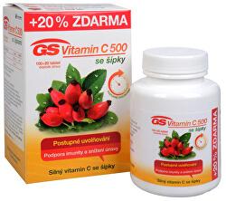 GS Vitamín C 500 + šípky 100 tbl. + 20 tbl. ZD ARMA
