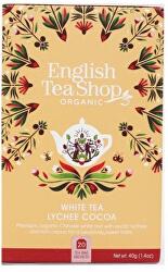 Bílý čaj s liči a kakaem BIO 20 sáčků