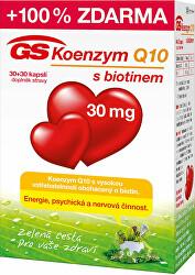 GS Koenzým Q10 30 mg 30 kapslí + 30 kapslí