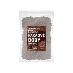 RAW BIO Drcené kakaové boby 200 g