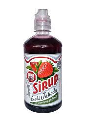 CukrStop sirup sa sladidlami z rastliny stévia - príchuť jahoda
