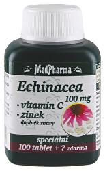 Echinacea 100 mg + vitamín C + zinok 107 tablet