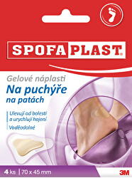 SpofaPlast gelové náplasti na puchýře 4 ks