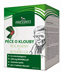 Priessnitz Kolagény + Boswellia starostlivosť o kĺby 90 + 30 tbl.