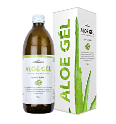 Aloe gél - 100% šťava z Aloe vera s dužinou 500 ml