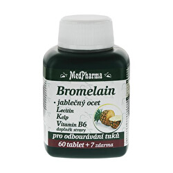 Bromelain 300 mg + jablčný ocot + lecitín + kelp + vitamín B6 60 tbl. + 7 tbl. ZD ARMA