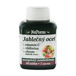 Jablčný ocot + vitamín C + vláknina + chróm 60 tbl. + 7 tbl. ZD ARMA