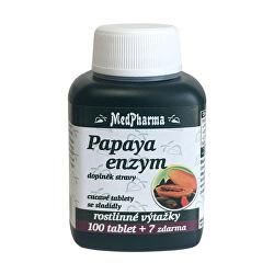 Papaya enzým - cmúľanie pastilky bez cukru s príchuťou broskyne 100 tbl. + 7 tbl. ZD ARMA