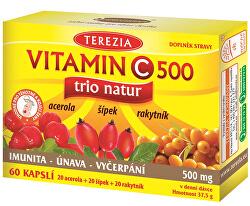 Vitamin C TRIO NATUR 500 mg 60 kapslí