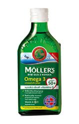 Möller`s rybí olej Omega 3 z tresčích jater 250 ml pro dospělé 50+