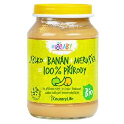 Příkrm jablko, banán, meruňka BIO 190g
