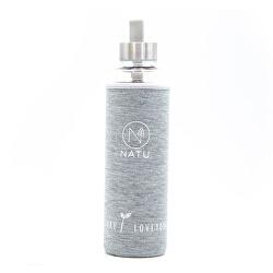 Sklenená fľaša v šedom termo obale 550 ml