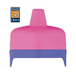 Tvrdé pítko pro kojeneckou termosku a láhev - růžové
