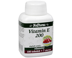 Vitamín E 200 100 tob. + 7 tob. ZDARMA