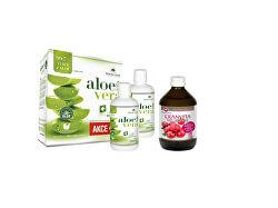 AloeVeraLife aloe 99.7% 1+1 1000 ml + Cranvita 500 ml