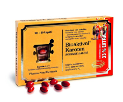 Bioaktivní Karoten Rodinné balení 90+30 pastilek EXTRA