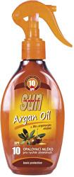 Opaľovacie mlieko s arganovým olejom OF 10 rozprašovacia 200 ml