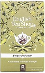 Skořice, moringa a zázvor Super Veggie Tea 20 sáčků