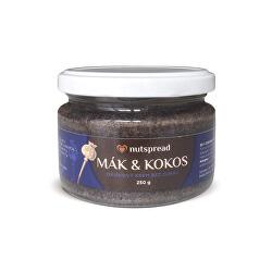 100% kokosovo-makové máslo Nutspread