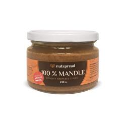 100% Mandlový krém crunchy 250 g - SLEVA KRÁTKÁ EXPIRACE 20.12.2021