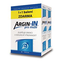 Argin-IN pre mužov 45 toboliek + Argin-IN 45 kapsúl zdarma