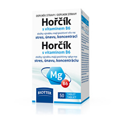 Hořčík 125 mg s vitamínem B6 50 tablet