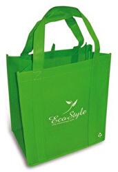 Geantă de cumpărături ECO stil verde