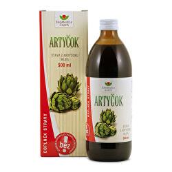 Artičok - 99,8% šťava z artičokov 500 ml
