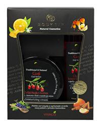 Darčeková kazeta Goji - Zvláčňujúci krém 200 ml + Pena do kúpeľa 200 ml