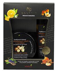 Darčeková kazeta Makadamový orech s vanilkou - Zvláčňujúci krém 200 ml + Pena do kúpeľa 200 ml