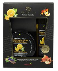 Darčeková kazeta Pomarančový kvet s mandarínkou - Zvláčňujúci krém 200 ml + Pena do kúpeľa 200 ml