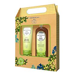 Darčeková sada pre každodennú starostlivosť s makadamovými olejom balzam + sprchový gél 2 x 250 ml