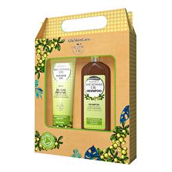 Darčeková sada pre každodennú starostlivosť s makadamovými olejom šampón + sprchový gél 2 x 250 ml
