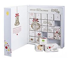 Adventní kalendář bílý - kniha, ETS24 pyramidek, 13 příchutí