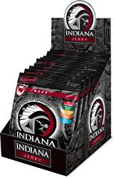 Indiana Jerky beef (hovězí) Hot & Sweet 250 g - display