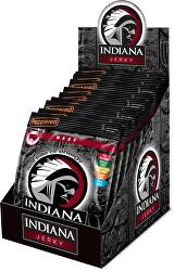 Indiana Jerky beef (hovězí) Peppered 250 g - display
