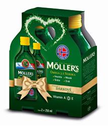 Möller`s Omega 3 Citron 2 x 250 ml Dárkové balení