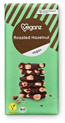 Čokoláda s praženými lískovými ořechy, Bio 90 g