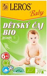LEROS Baby BIO Dětský čaj bylinný 20 x 2 g