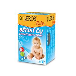 LEROS Baby Dětský čaj Dýchací cesty s lípou 20 x 2 g