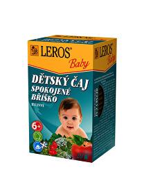 LEROS Baby Dětský čaj Spokojné bříško 20 x 2 g