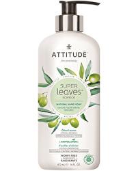 Přírodní mýdlo na ruce Super Leaves s detoxikačním účinkem - olivové listy 473 ml