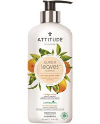 Přírodní mýdlo na ruce Super Leaves s detoxikačním účinkem - pomerančové listy 473 ml