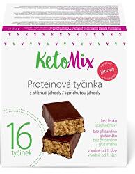 Proteinové tyčinky s příchutí jahody 16 x 40 g