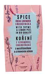 BIO koření z tradiční české mateřídoušky, citronové trávy a Levandule Chodouňské 15 g