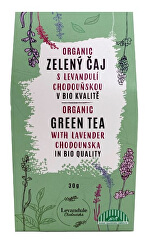 BIO Zelený sypaný čaj Chun Mee s Levandulí Chodouňskou 30 g